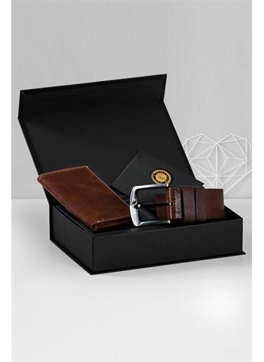 Deri Company Sevgiliye Premium Hediye Set 119503 Taba